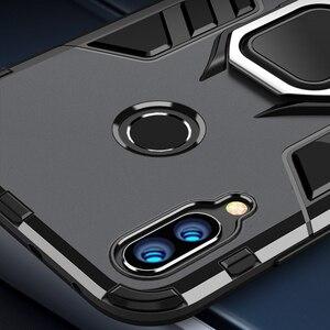 Für Honor 10 Lite Fall Rüstung PC Abdeckung Finger Ring Halter Telefon Fall Auf Für Huawei P Smart 2019 Abdeckung durable Verstärkt Stoßstange