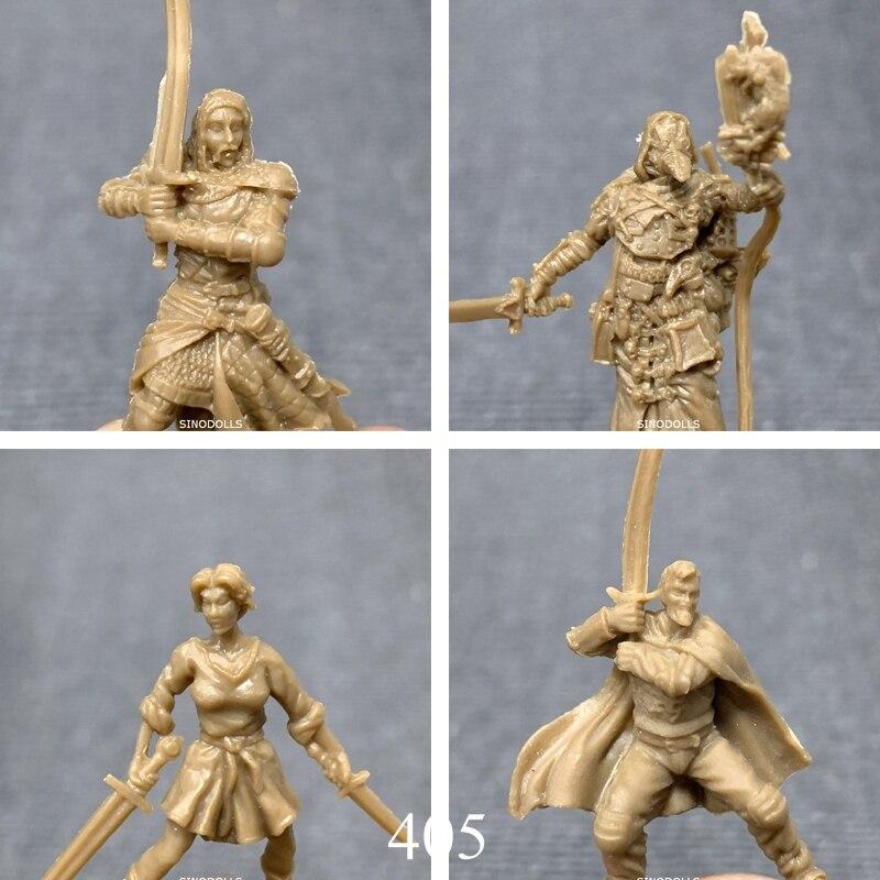 BIXE 4pcs 28mm Dungeons D& D Role Playing Marvelous Miniatures War Board Games Figures