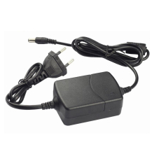 12V 2A EU Plug Dual Cable AC DC Adapter AC100-240V to DC 12V Two Wire Power Supply Charger 5.5mm x 2.1-2.5mm for LED Strip/CCTV