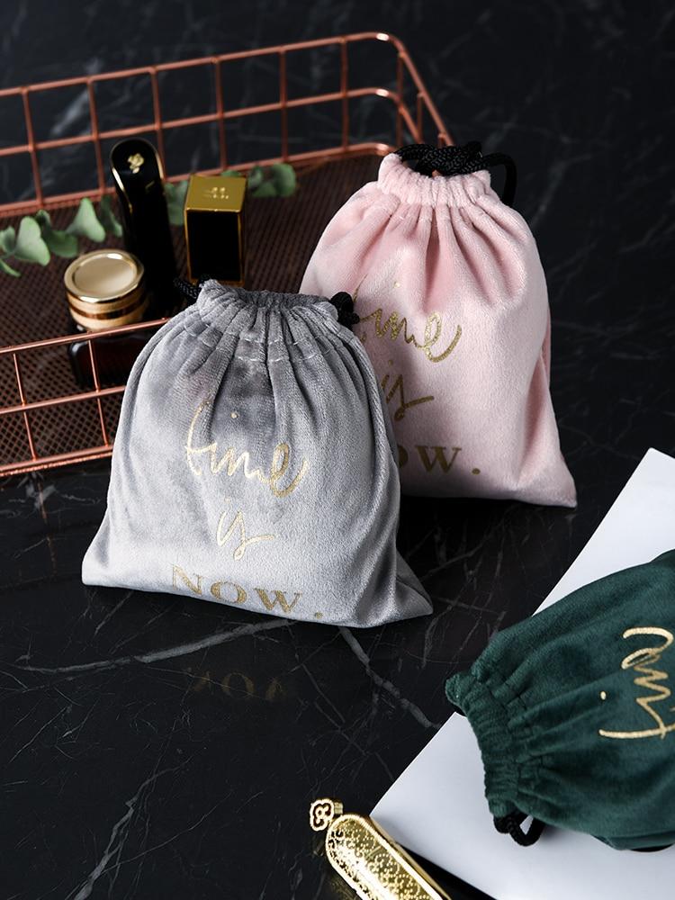 Lipstick Storage Bag With Small Ins Wind Nordic Velvet Cosmetic Lipstick Sample Mini Storage Bag Portable