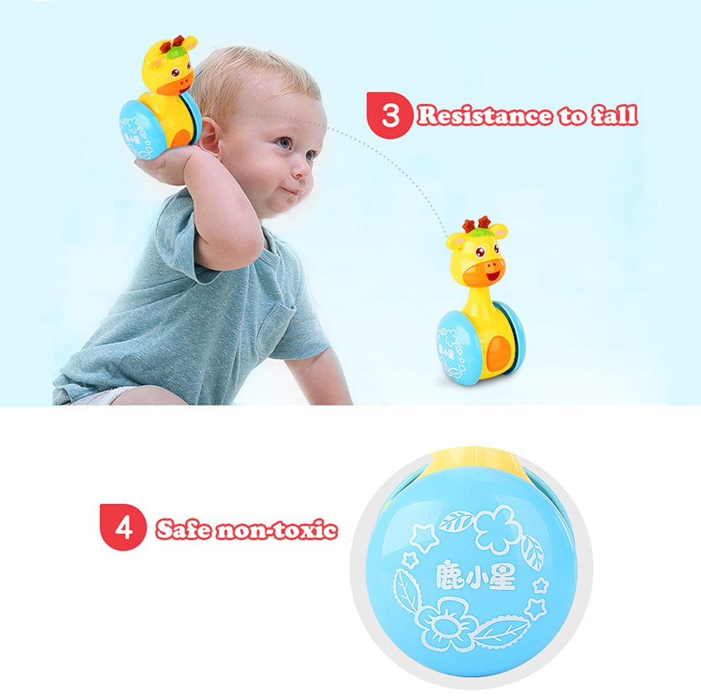 Baby Rattles Tumbler Doll Baby Toys Cute Image Sweet Bell Music Roly-poly Learning Education Toys Gifts Baby Bell Baby Toys