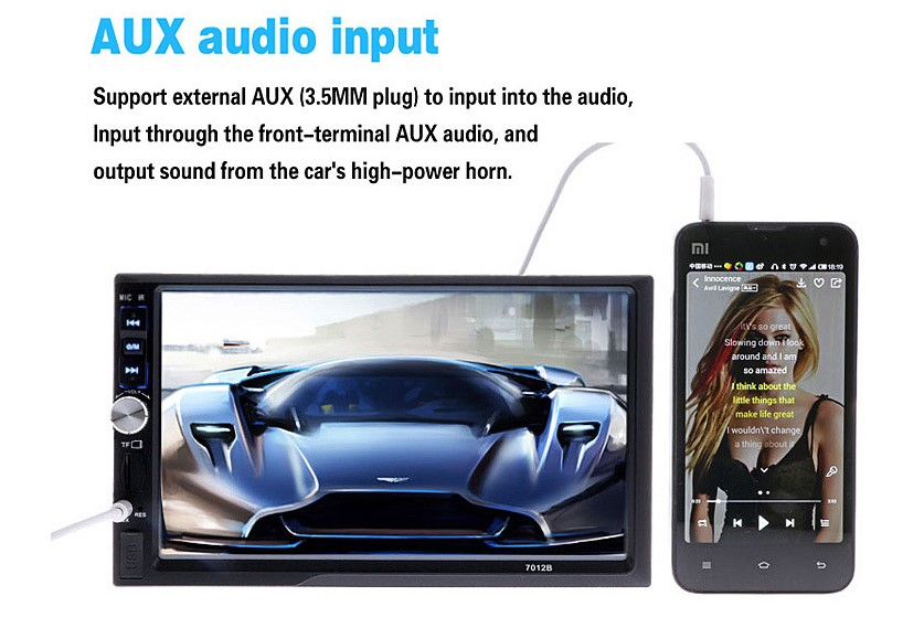 <font><b>2</b></font> <font><b>din</b></font> Car <font><b>Radio</b></font> Bluetooth Multimedia Player HD 7