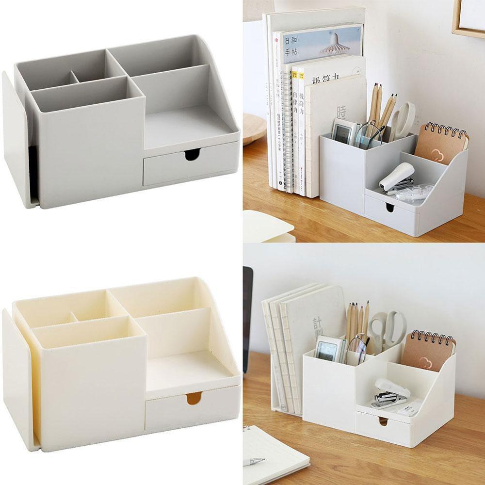 1Pcs ABS Office Organizer Storage Pen Pencil Holder Desktop Box Stationery Sundries Storage Supplies