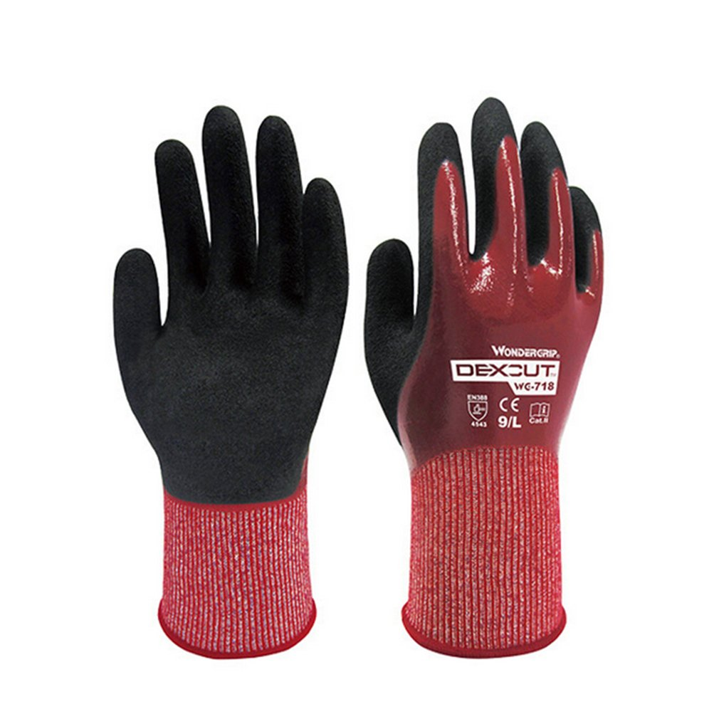 WG-718 Waterproof Cut-proof Working Safety Gloves Cut-Resistant Anti Abrasion Level 5 Kitchen Cutting Anti Cut Gloves