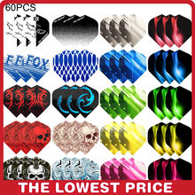 60/30 PCS Dart Flights Multiple Styles Colorful PET Darts Feather Leaves Dart Accessories Professional Dartboard Games(China)