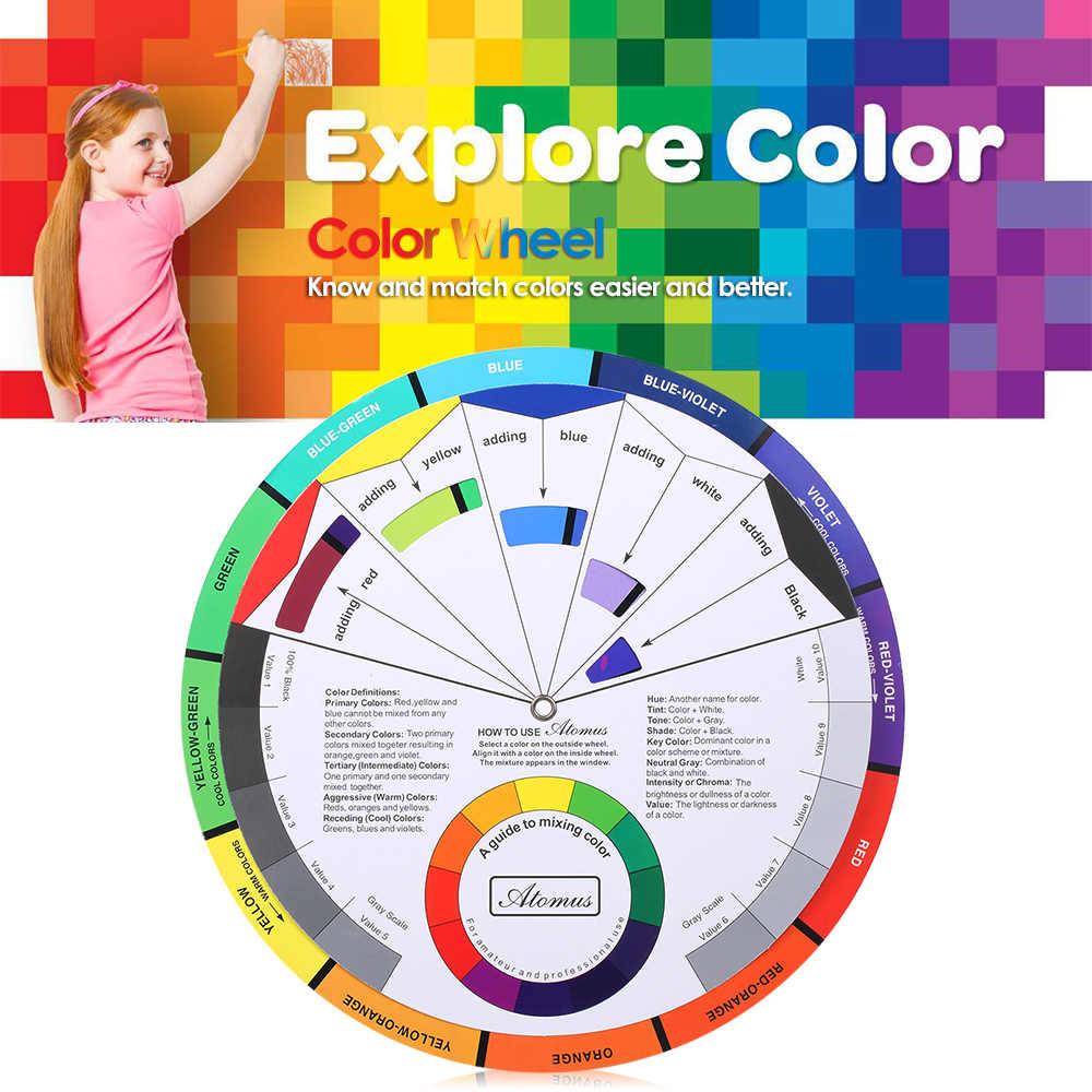 الوشم الصباغ اللون عجلة الرسم البياني اللون مزيج دليل إمدادات الدائم الحاجب كحل الشفاه الوشم