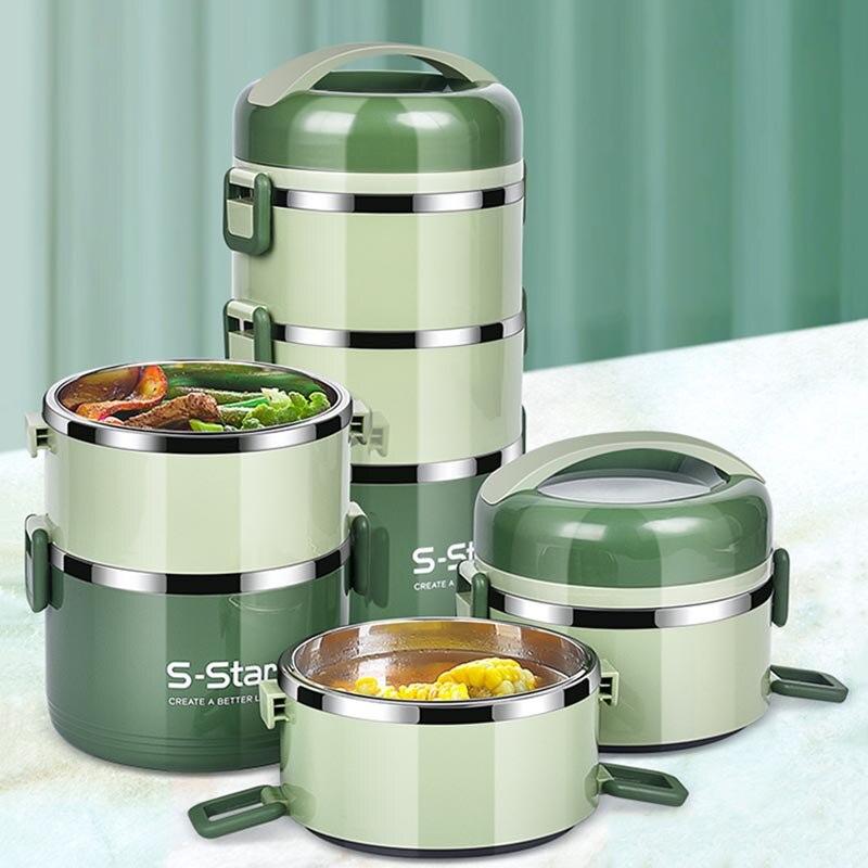 304 acier inoxydable thermique boîte à déjeuner japonais alimentaire conteneur pique-nique Portable boîte à déjeuner école enfants Bento boîte accessoires de cuisine