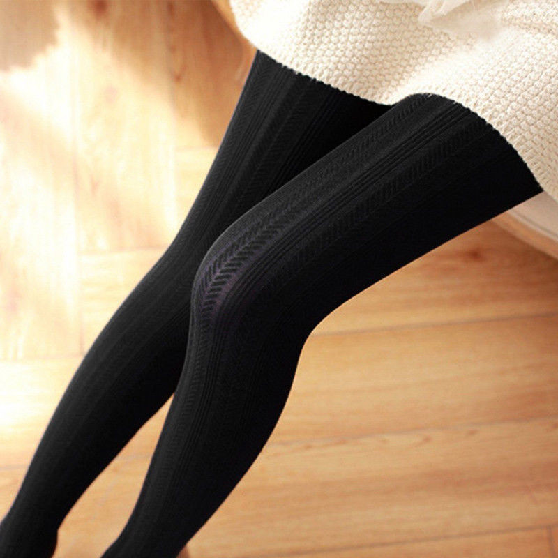 Spring Autumn Collant Stretchy Pantyhose Hosiery Women Super Elastic Jacquard Solid Soft Cotton Slimming Tights