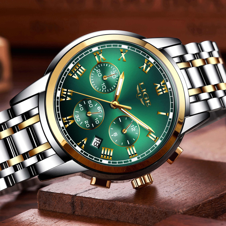 Reloj Hombre 2020 LIGE, nuevos Relojes para Hombre, cronógrafo de marca de lujo para Hombre, Relojes deportivos impermeables de acero inoxidable, reloj de cuarzo para Hombre