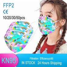 10/50 шт в наборе, KN95 маски ffp2mask 5 слоев маска для лица многоразовая KN95 респиратор FPP2 Маска Защитная маска для лица Mascarilla Masken маска