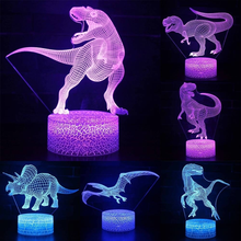 Dinosaur World Night Light Led 7 Colors Changing Table Desk Lamp Touch Control 3D LED Night Light Christmas Gift