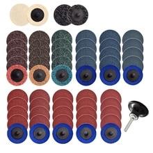 60Pcs 2 Inch Quick Change Discs Set Sanding Discs 1/4 Inch Holder for Die Grinder Rust Paint Removal Surface Discs