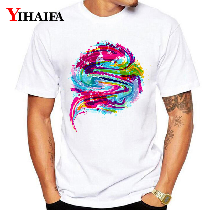 T Shirt Mens Womens Colorful Melted 3D Print Funny Graphic Tees Casual O Neck Creative Summer White Tee Shirts Tops in T Shirts from Men 39 s Clothing