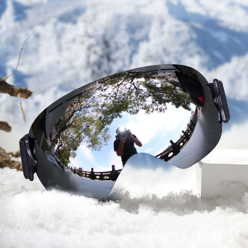 Professional Ski Goggles Men Mask Lens UV400  Adult Anti-fog Snowboard Skiing Glasses Women Ultra-light Winter  Snow Eyewear
