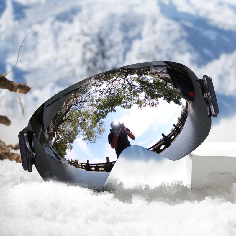 Профессиональные лыжные очки, мужские маски, линзы UV400, для взрослых, антизапотевающие, для катания на сноуборде, лыжах, женские ультралегкие зимние очки|ski glasses women|ski glassesski goggles | АлиЭкспресс
