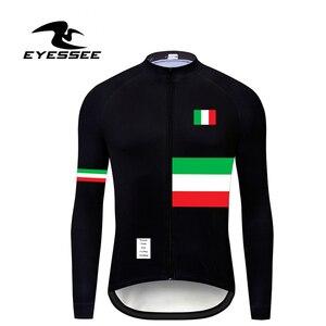 Image 5 - Italië Wielertrui Eyessee Mannen Fit Lichtgewicht Lange Mouw Wielershirts 5 Kleuren Racefiets Mtb Race Fiets Kleding