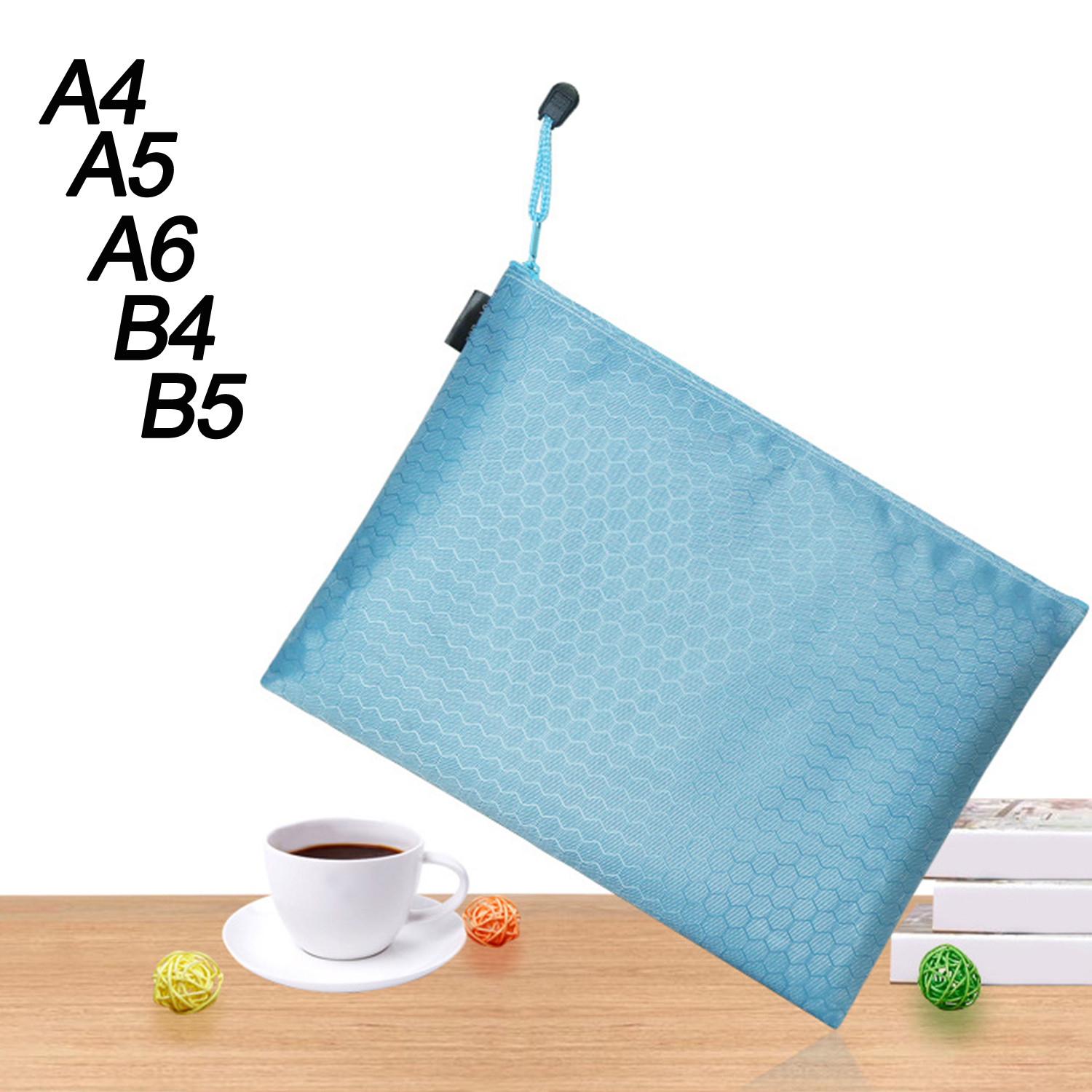 Zipper Paper File Folder Pouch Colorful Single Layer Canvas Cloth Book Pencil Pen Case Bag File Document Bags Supplies