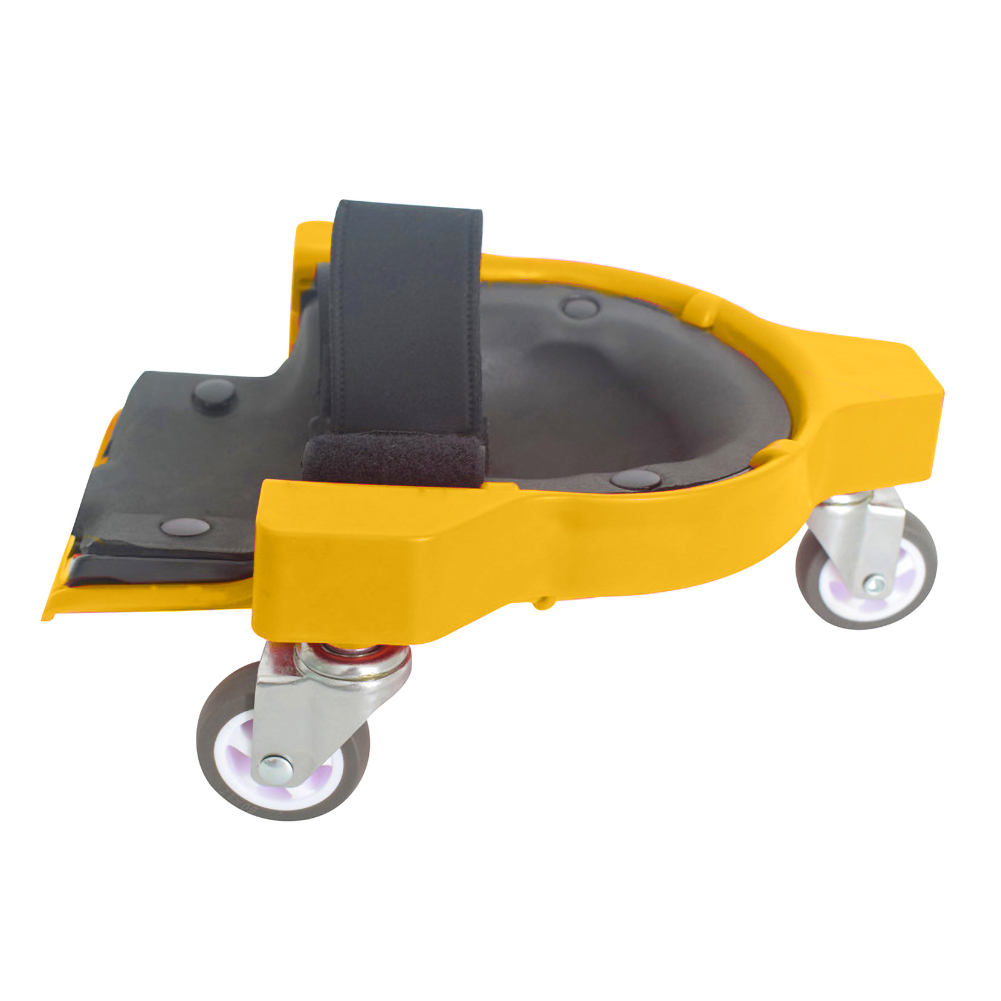 New HOt  Plastic Rolling Wheels Tool Gliding Construction Flexible Protective Practical Mobile Workers Adjustable Strap Knee Pad