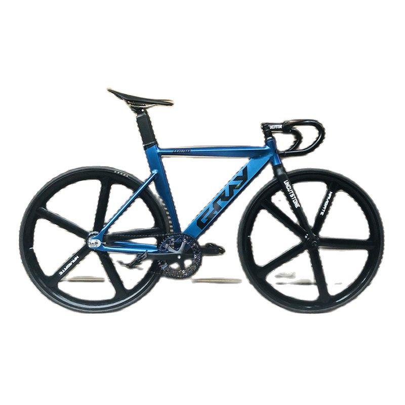 Track Bike Fixie Bike Aluminum Alloy Frame Fork 48cm 52cm Magnesium Alloy Wheel Single Speed Bicycle 700C Fixed Gear Bicycle