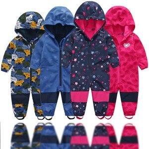 Image 1 - רך פגז ילדים סרבל בני ובנות סיאמיים romper סרבל habercoat חם עמיד למים windproof מרוכבים בד