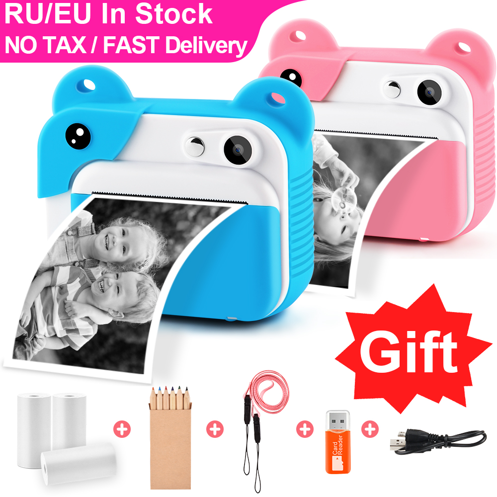 Kids Camera Photo-Print Digital Prograce Girl's Child Toy
