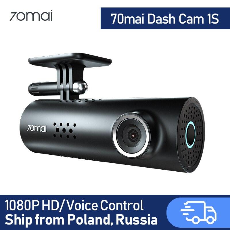 70mai traço cam 1 s carro dvr 70 mai câmera suporte de controle voz inteligente wi fi sem fio conectar 1080 p hd 130 graus fov