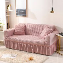 Elastic Sofa Cover For Living Room Printed Plaid Stretch Sectional Slipcovers Sofa Couch Cover L shape 1-4-Seater