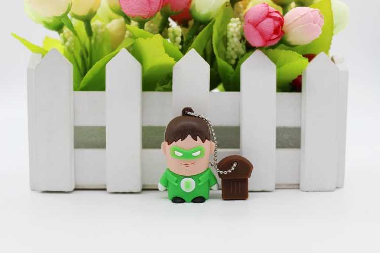 Spiderman/Captain America/Superman/Batman/Green Lantern USB Flash Drive8g/32g Fashion custom flash drive silica gel cartoon gift