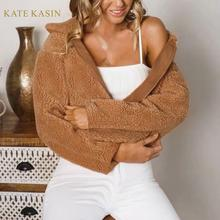 Kate Kasin 2019 Winter New Fashion Fluffy Fleece S
