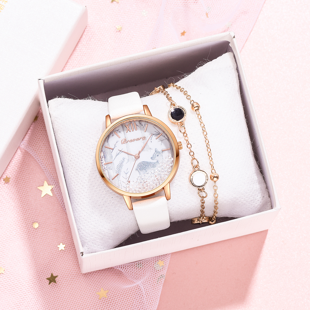 Ladies Wrist Watch Luxury Rhinestone Leather Bracelet Wristwatch Women Fashion Casual Watches Ladies Alloy Analog Quartz Relojes