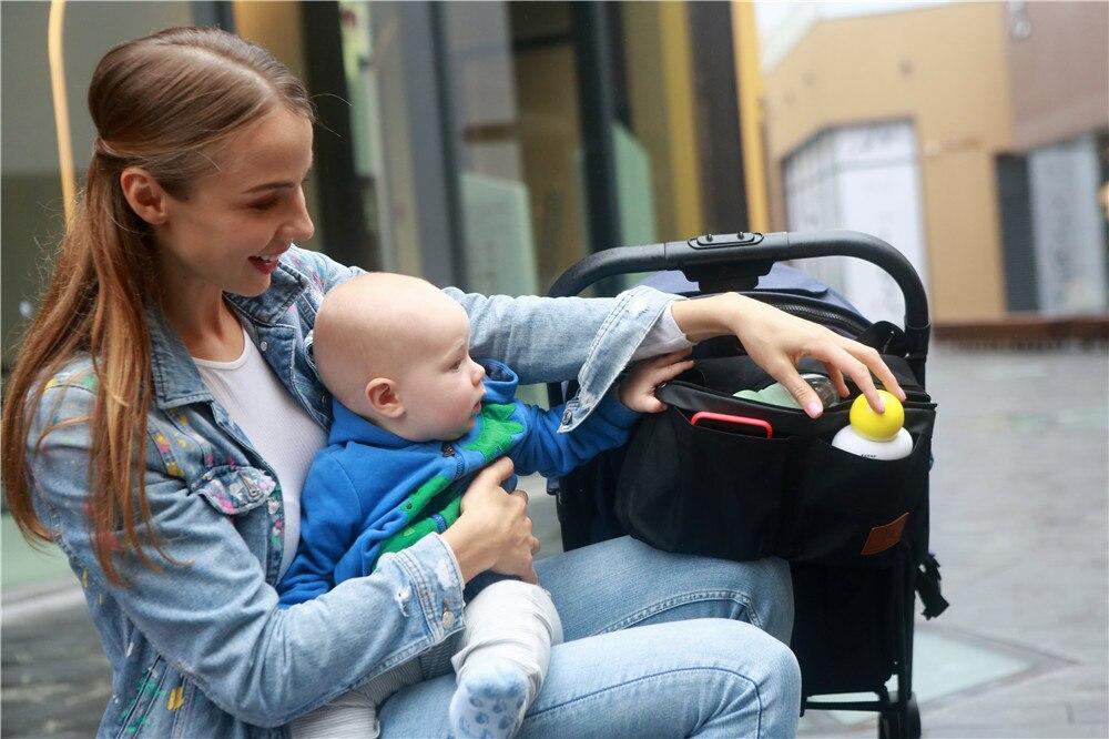 Купить с кэшбэком Baby Stroller Organizer Nappy Bag Hook Hanging Mummy Carriage Waterproof Bottle Bag Handbag Pram Cart Organizer Diaper Bag