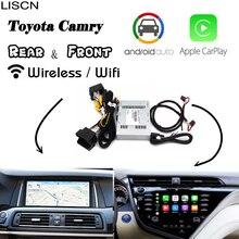 Беспроводной Carplay для Toyota Camry Android Авто управление carlife большой экран навигация обновление декодер заднего вида