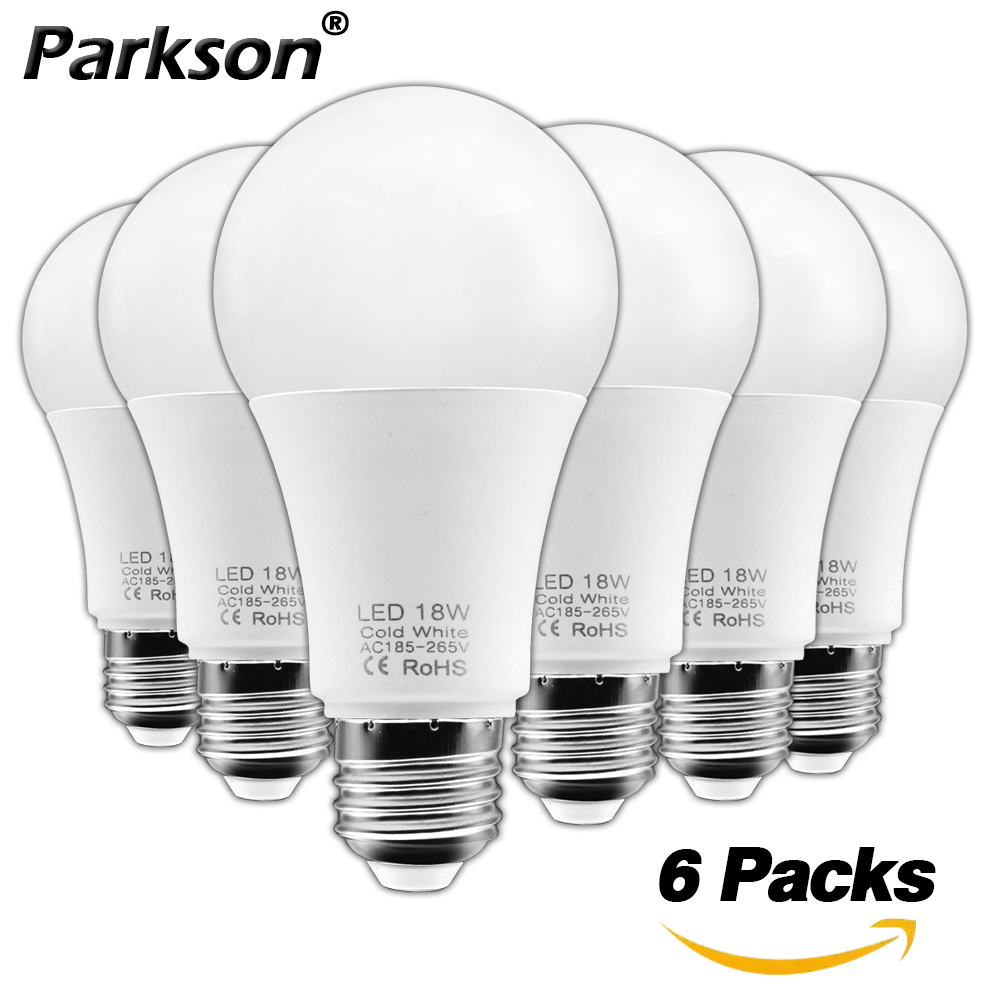 6pcs/lot E27 LED Light Bulb 220V 230V 240V 3W 6W 9W 12W 15W 18W Lampda LED Lamp Bulb Energy Saving Cold Warm White Ball Bulb