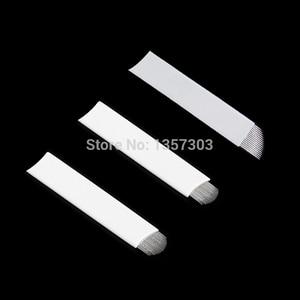 Image 3 - 50個ホワイト0.20ミリメートルmicroblading針ラミナtebori 7 9 11 12 14フレックスブレードu形状アートメイク針刃