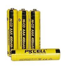 6 шт pkcell aaa nicd Батарея 400 мАч 12 в перезаряжаемая батарея