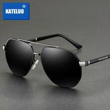 KATELUO 2020 Klassische Herren Militär Qualität Sonnenbrille Polarisierte UV400 Sonnenbrille Für Männer Pilot Gläser für Fahren 6603