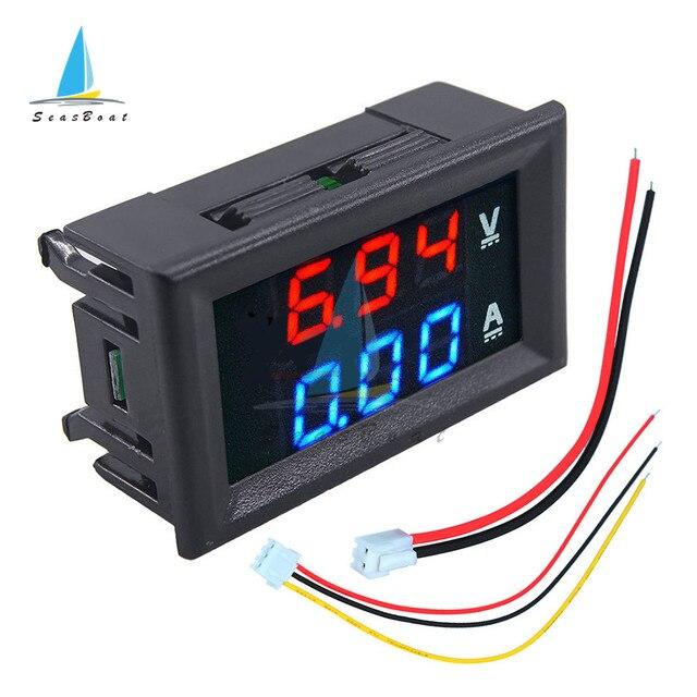 0.56'' 0-100V 10A 50A 100A LED Digital Voltmeter Ammeter Car Motocycle Voltage Current Meter Volt Detector Tester Monitor Panel 4