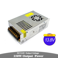 250W 13.8V DC Power Supply Switching Driver Transformers 220V 110V AC DC13.8V Power Source for CCTV Stpper CNC Machinery Lamp