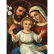 5d алмазная картина религиозная семья полная круглая Алмазная