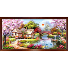 Round Drill 5D Diy Diamond Painting Landscape Natural Scenery Embroidery Rhinestone Gift Dream Home European Decor