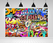 Scopiso Photography Backdrop Old School Party Hip Hop Graffiti Wall Birthday Party Decoration Background Photo Studio Props