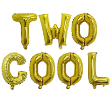 7pcs 16inch Two Cool Letter Balloons Second Birthday Party Decoration Balon Kids Baby Shower Birthday Party Supplies Air Globos