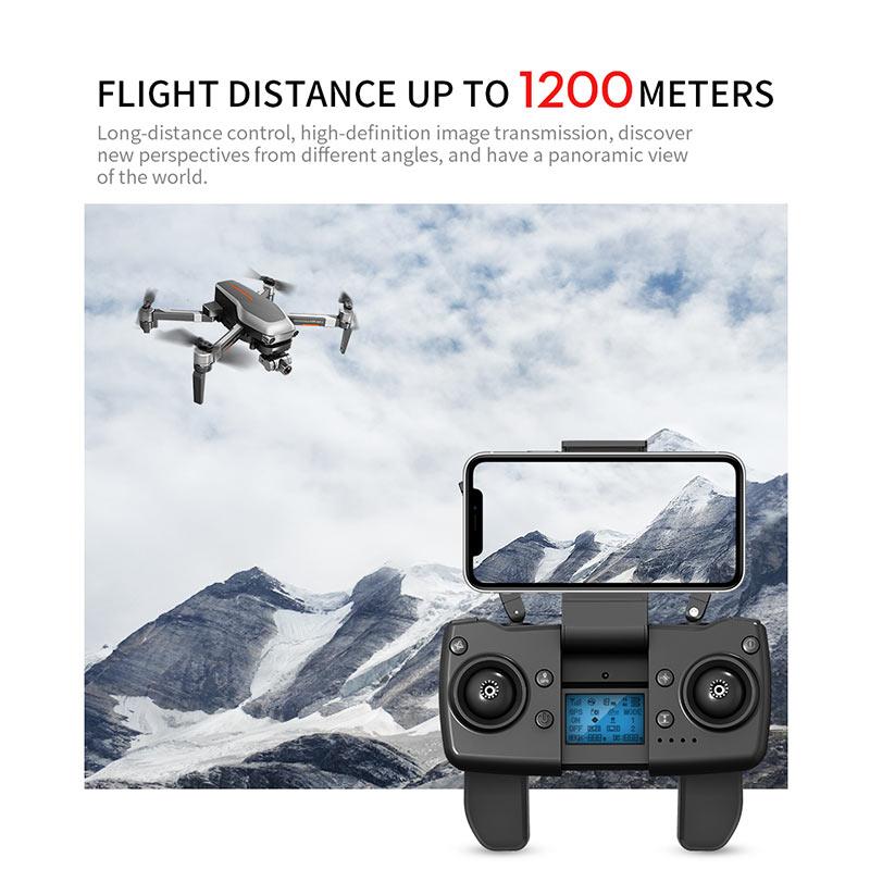 Купить с кэшбэком GPS Drone with 4K HD Adjustment Camera Wide Angle 5G WIFI Professional Foldable Drones