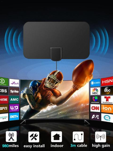 980 Miles HD TV Antennas Indoor Mini Digital Antenna Compatiblewith720p,1080i,1080p/ATSC 4