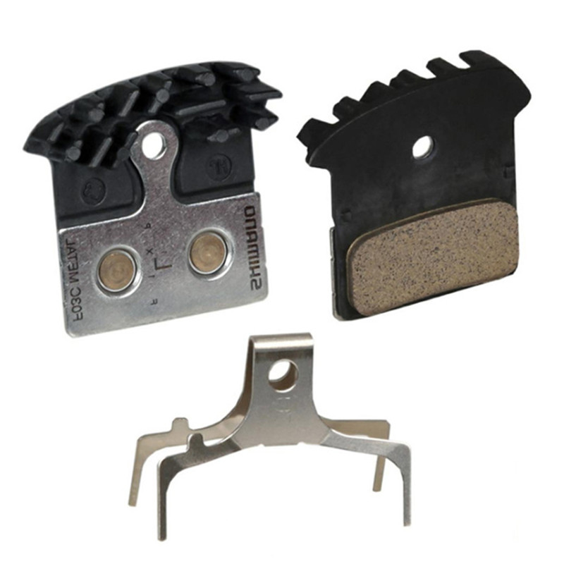 Hydraulic Disc Brake F03C Metal Cooling Fin Brake Pads Ice Tech 2pcs for XTR XT SLX Deore for Shimano Mountain Bike Accessories