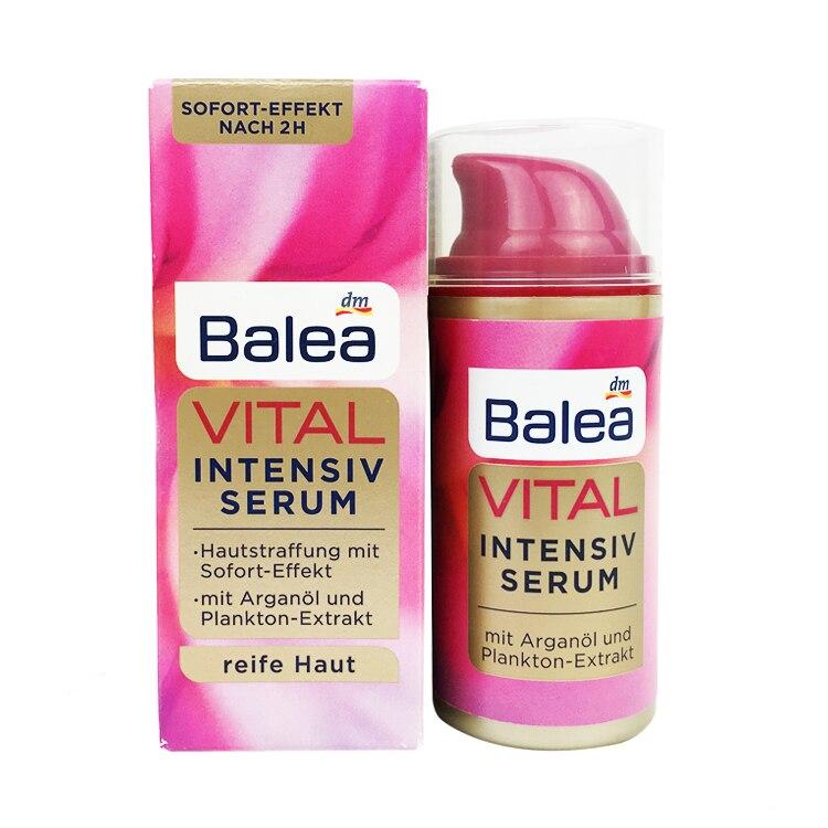 Balea, Германия, Интенсивная сыворотка, 30 мл, аргановое масло, витамин Е, затягивает кожу, против морщин, Высокоэффективная формула ухода, эласт