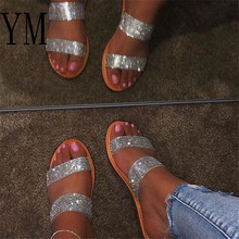 Summer Pink Beach Bling Crystal Rome Ladies Sandals Rhinestone Platform Mixed Co