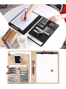 Folder Padfolio Planner Notebook Documents Office-Organizer Multi-Function Executive