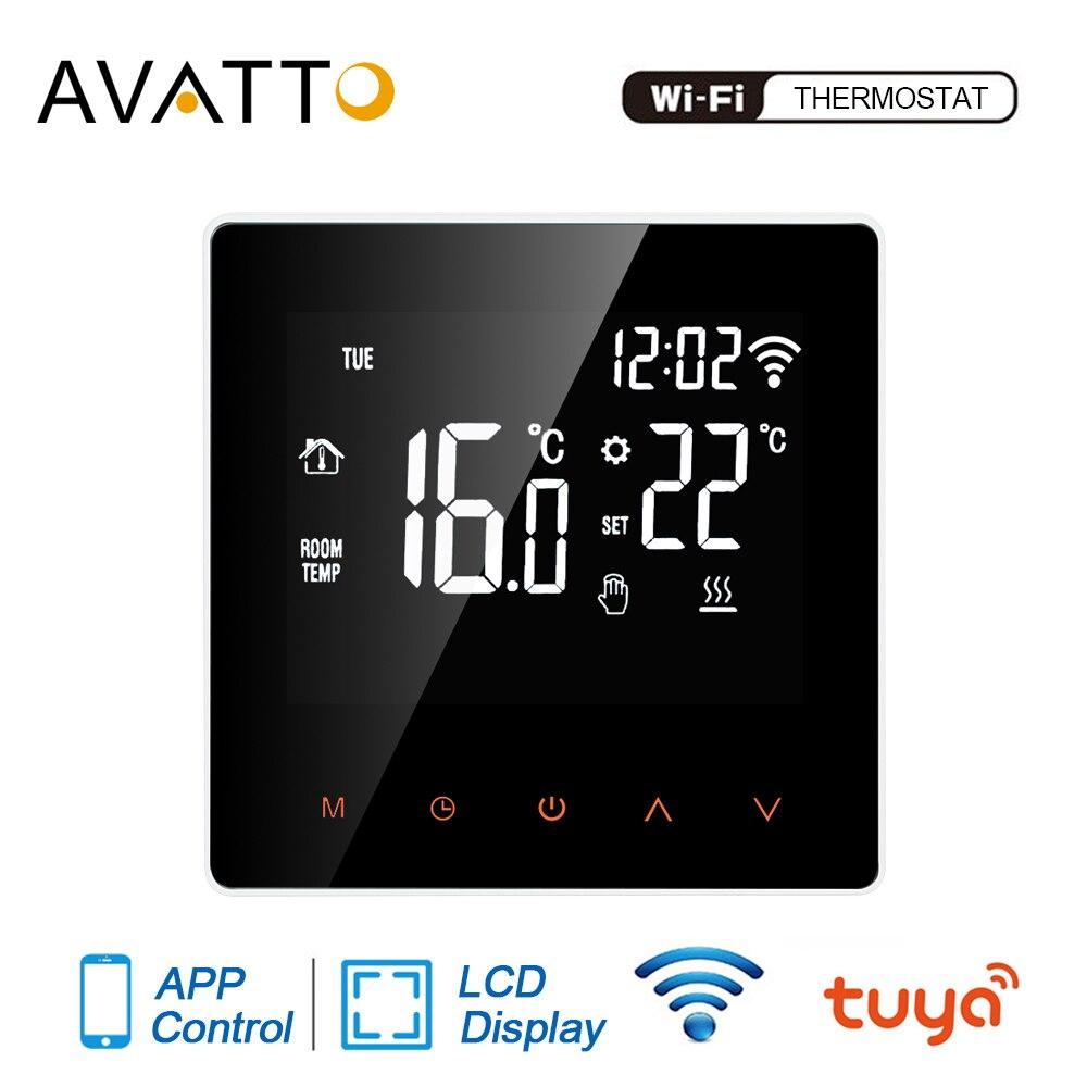 Thermostat intelligent davatto Tuya WiFi, télécommande électrique de température de chaudière deau/gaz de chauffage par le sol pour Google Home, Alexa