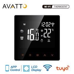Avatto tuya wifi termostato inteligente, piso elétrico aquecimento de água/caldeira a gás temperatura controle remoto para casa do google, alexa